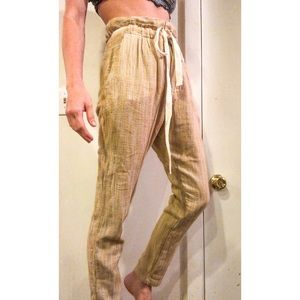 Free People Skinny High Waisted Trouser Pants